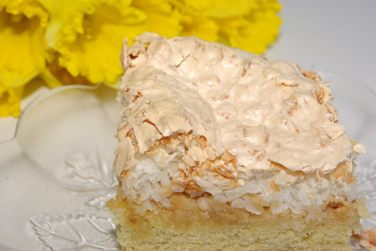 Kruche ciasto z jabłkami i kokosową bezą. www.dagmara-rek.pl