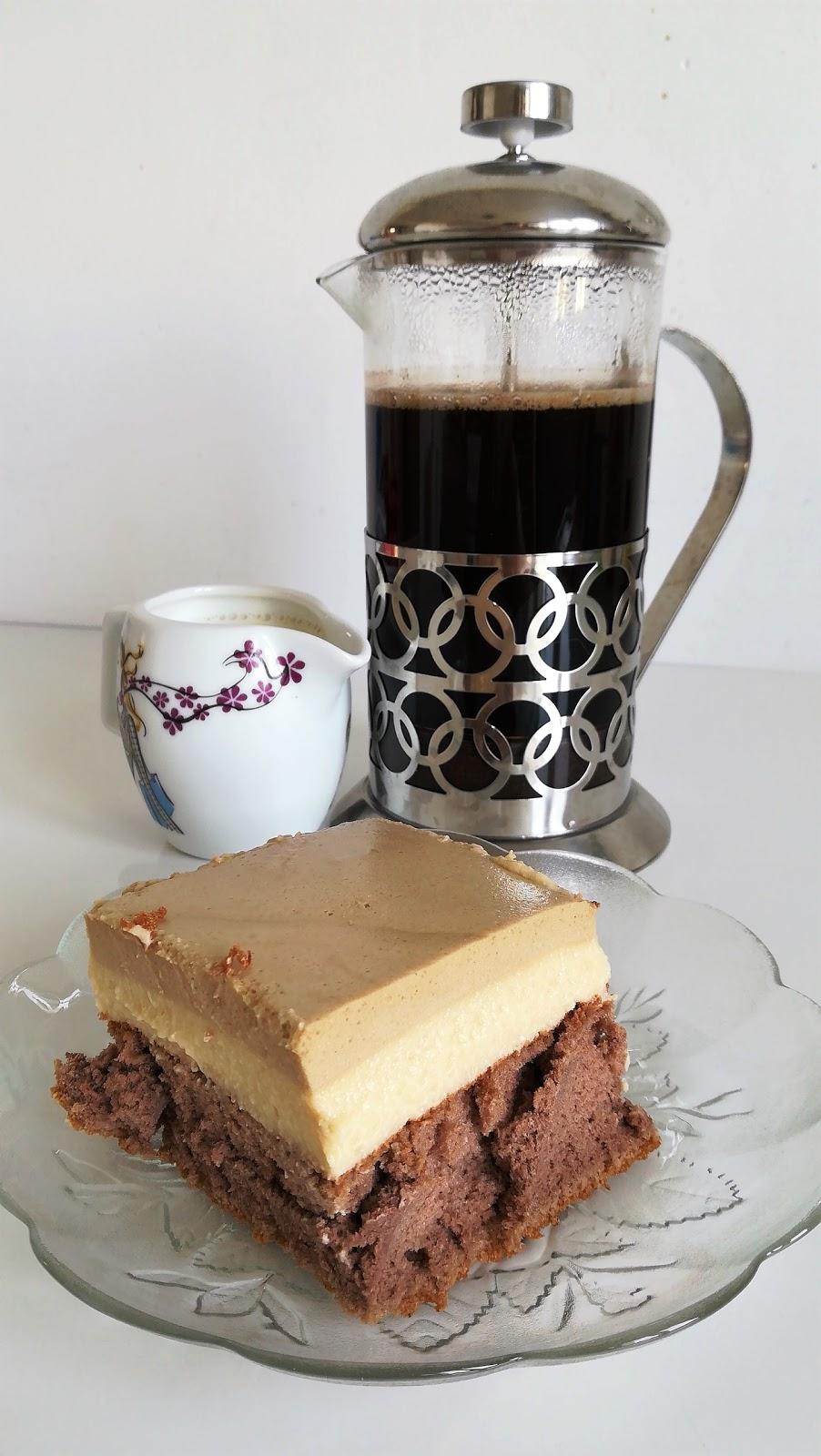 Kawowa rozkosz - ciasto cappuccino.
