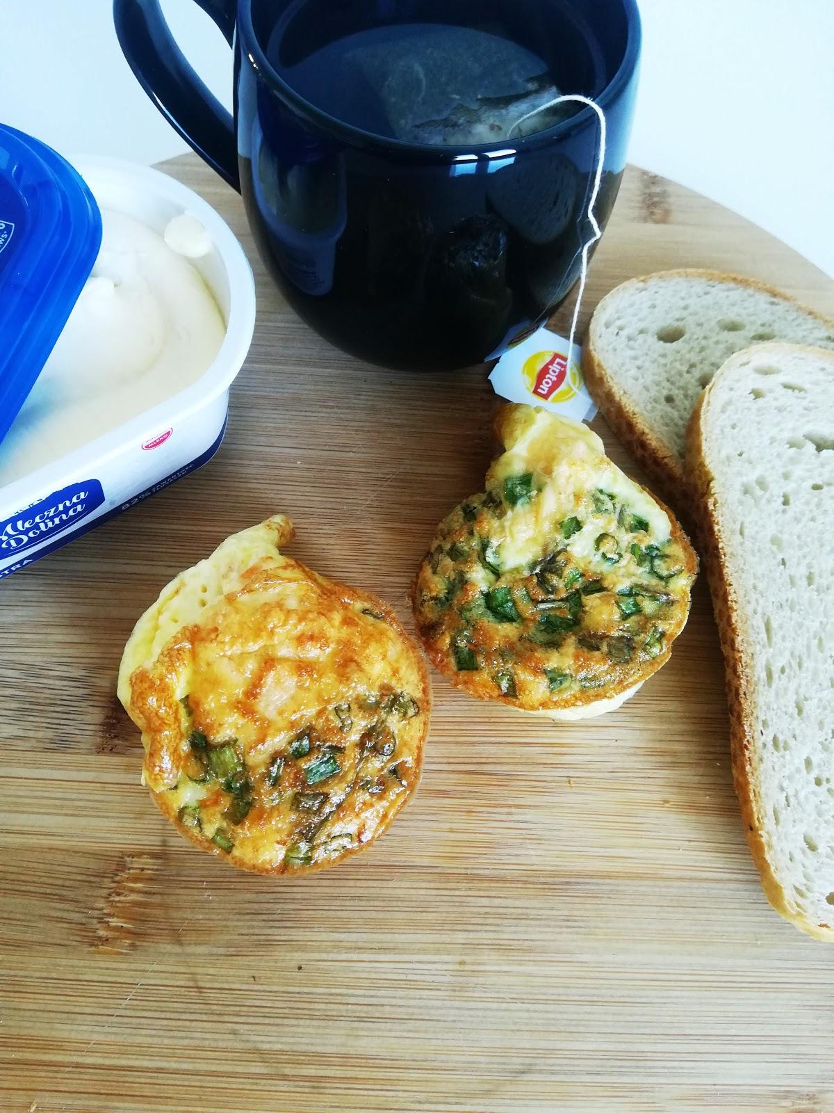 Pyszne śniadanie - muffinki jajeczne